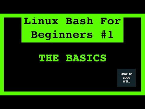 Linux Bash Shell For Beginners Tutorial 1 | The Basics Of Bash