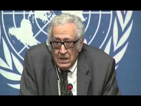 Syria \ Lakhdar Brahimi,Press Conference Geneva, 28 January 2014