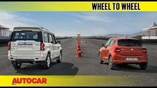 Drag Race: Mahindra Scorpio vs Maruti Swift | Autocar India
