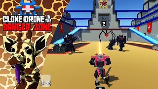 Clone Drone in the Danger Zone: Playing with the Chat! - Kevin the Giraffe