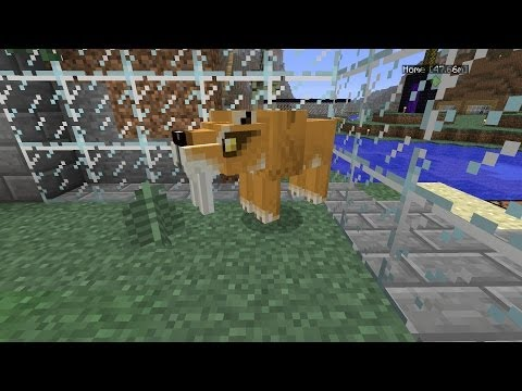 Minecraft Dinosaurs Part 98 Sabercats Happy Home and a Baby Mammoth