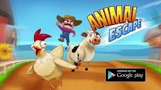 Con gà trống xổng chuồng chạy ăn ngô của bác nông dân Animal Escape Free cu lỳ chơi game vui nhộn