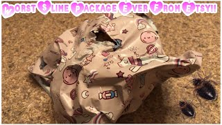 Worst Slime Package From Etsy!! -Hair In My Slime, And BUGS 🤢🤢-