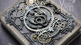 Блокнот стимпанк. МК. Скрапбукинг. Steampunk notebook. Master Class. Scrapbooking.