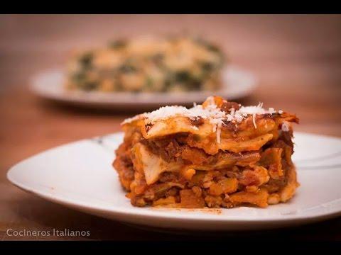 Lasaña Boloñesa - Lasagna - Receta - Cocineros Italianos