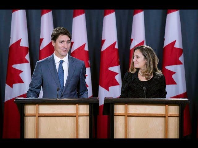 Trudeau and Freeland praise USMCA trade deal