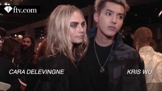 [HD 1080P] Kris Wu & Cara Delevingne after the Burberry September Show at LFW