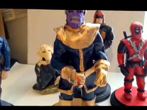 Mis figuras hechas de plasticina/sculpey de Marvel, Star Wars & Judge Dredd