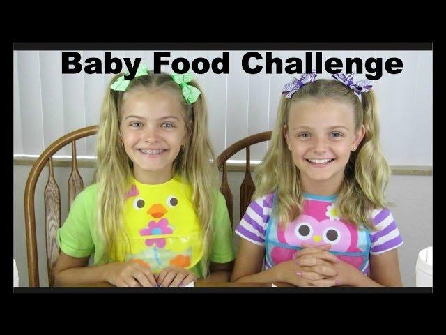 Baby Food Challenge ~ Jacy and Kacy