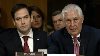 Rubio grills Tillerson on Russian