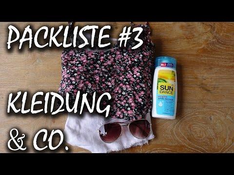 Packliste: Kleidung, Hygiene, Dokumente, Medikamente | Backpacking Packliste #3