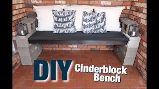 DIY CINDERBLOCK BENCH *SUPER INEXPENSIVE*