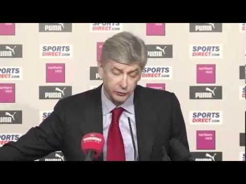 Arsene Wenger post Newcastle reactions