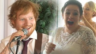 VIDEO: Ed Sheeran sorprende a recién casados