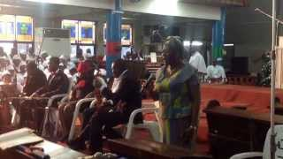 Commissioner Oyefunke Oworu from Oyo State doing a Solo at Agbeni Methodist Capthedral, Ibadan