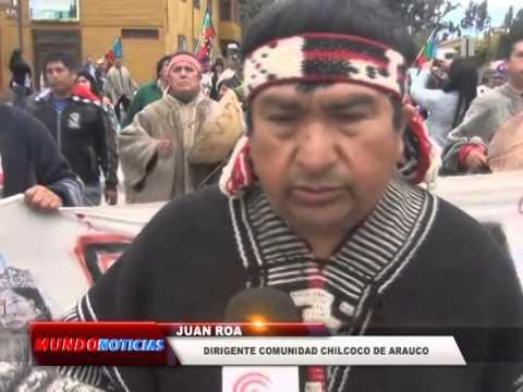 Mapuches marcharon por la desmilitarización y recuperación de tierras ancestrales en Cañete