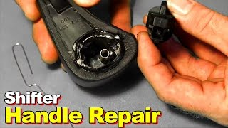 How To Repair / Replace A Broken Or Stuck Shifter Shift Handle Button Knob On 2003-2006 Honda Accord