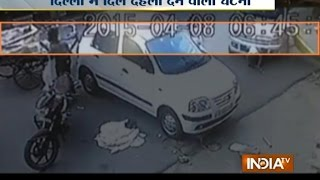 CCTV: Woman Driver Crushes Old Man while Learning to Drive in Delhi - India TV