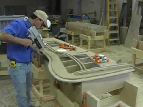 Solid Surface Countertop Manufacturing Fabrication Youtube