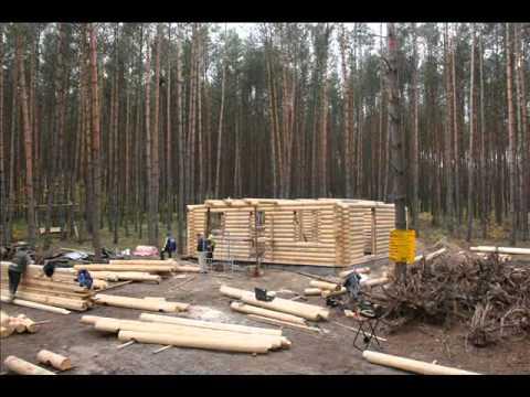 Construction chalet rondin maison bois chalet bois youtube - Chalet en rondin de bois ...