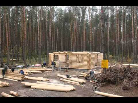 construction chalet rondin maison bois chalet bois youtube. Black Bedroom Furniture Sets. Home Design Ideas