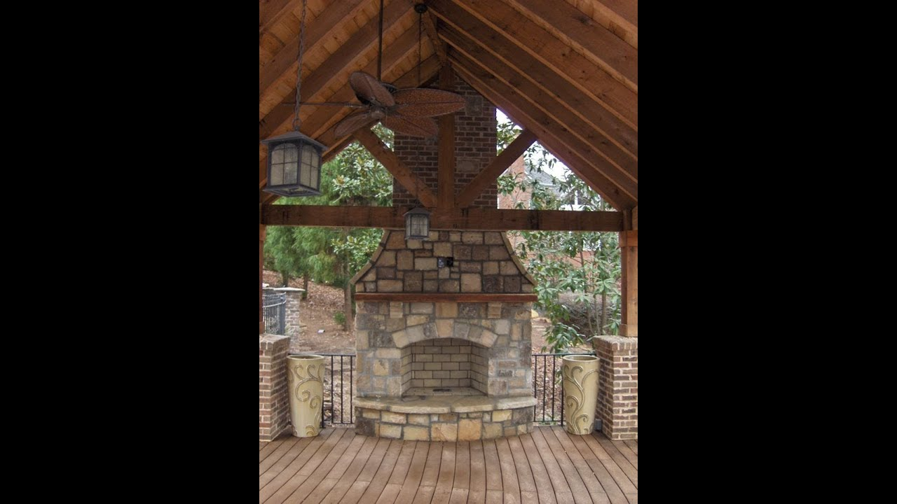 Time Lapse Outdoor Stone Fireplace Construction In Atlanta