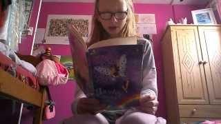 Reading Hayley the rain fairy (Rainbow magic)