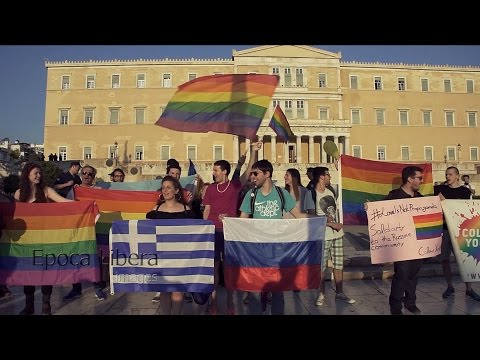 Greece: LGBTQ activists protest against Putin's visit in Athens