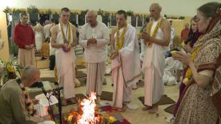 2011.10.22. Initiation Ceremony, HG Sankarshan Das Adhikari - Kaunas, Lithuania
