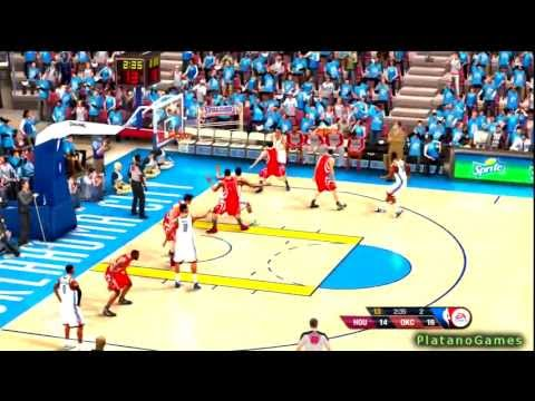 NBA Playoffs 2013 - Oklahoma City Thunder vs Houston Rockets - Game 1 - 1st Half - NBA Live 13 - HD