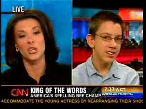 Kiran Chetry CNN Spelling Champ interview
