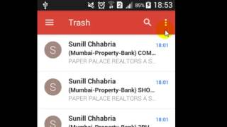 How to empty bin in Gmail android app