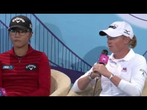 Stacy Lewis and Lydia Ko 2nd round interview from the 2014 Swinging Skirts LPGA Classic