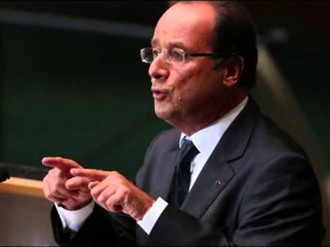 French President Francois Hollande visits first lady