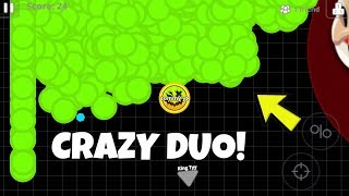 CRAZY AGARIO DUO! (Agar.io Mobile Gameplay!)
