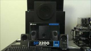 Corsair SP2200 2.1 Speakers Review