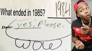 Funniest Kid Test Answers Part 21