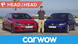 Volkswagen Golf R vs Golf GTI Performance 2018 review | Head2Head