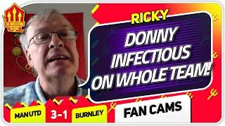 RICKY! CAVANI SHOULD'VE STARTED! Manchester United 3-1 Burnley Fan Cam