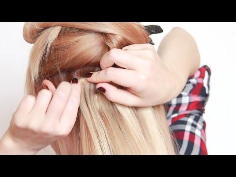 Накладные волосы. 2й способ крепления. How To Clip Hair Extensions. Second Method