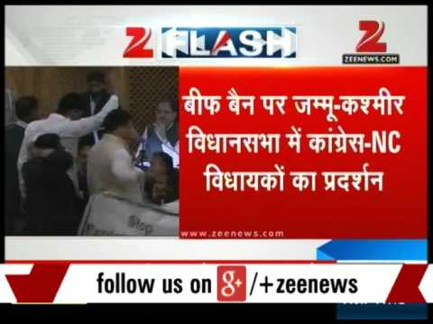 Congress, NC protest against beef ban in J&K assembly
