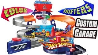 Color Changers Ultimate Custom Garage Shop Playset Hot Wheels colour shifters using Batmobile cars