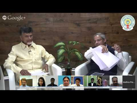 Hangout with Andhra Pradesh Chief Minister N. Chandrababu Naidu