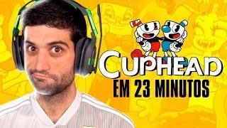 Zerando CUPHEAD em 23 MINUTOS, speedrun INSANO - REACT