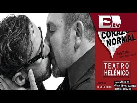 Elenco de la obra Un corazón normal visita Excélsior TV  / Función con Juan Carlos Cuellar