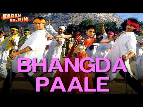 Bhangda Pale Aaja Aaja - Full Song - Karan Arjun - Shahrukh Khan & Salman Khan