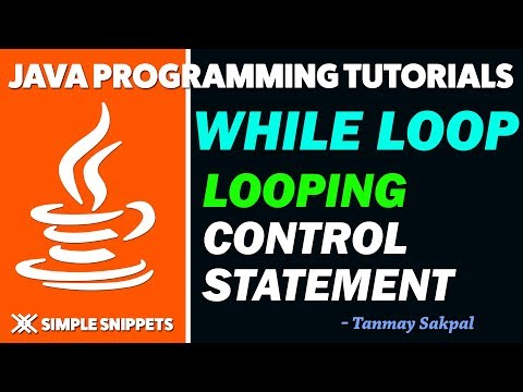 Java While Loop Control Statement with Program Example | Java Programming Tutorials for Beginners