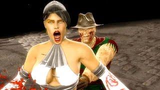 Mortal Kombat 9 - All Fatalities & X-Rays on Kitana White Costume Skin Mod 4K Ultra HD Gameplay Mods