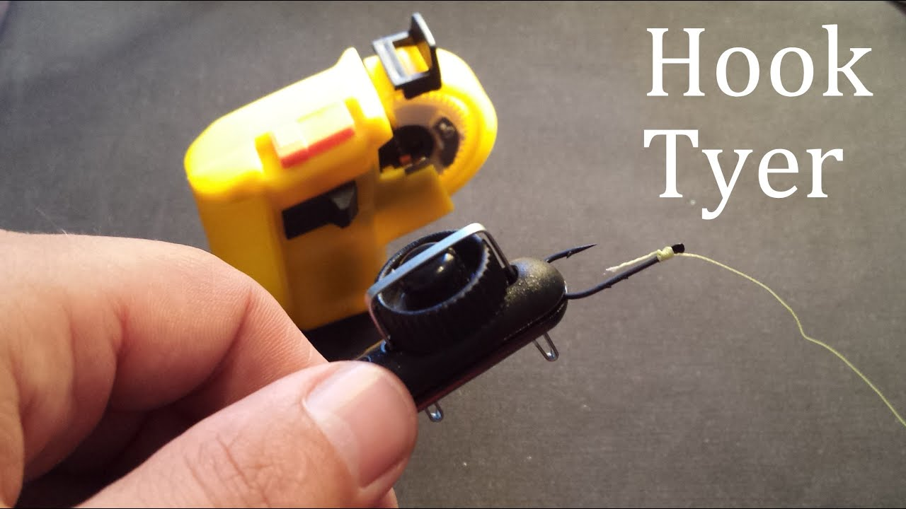 How to tie fishing knots using matchman hook tyer for Fish hook tying tool