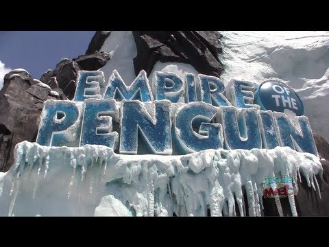 FULL Antarctica Empire of the Penguin ride through with pre-show, queue, habitat at SeaWorld Orlando